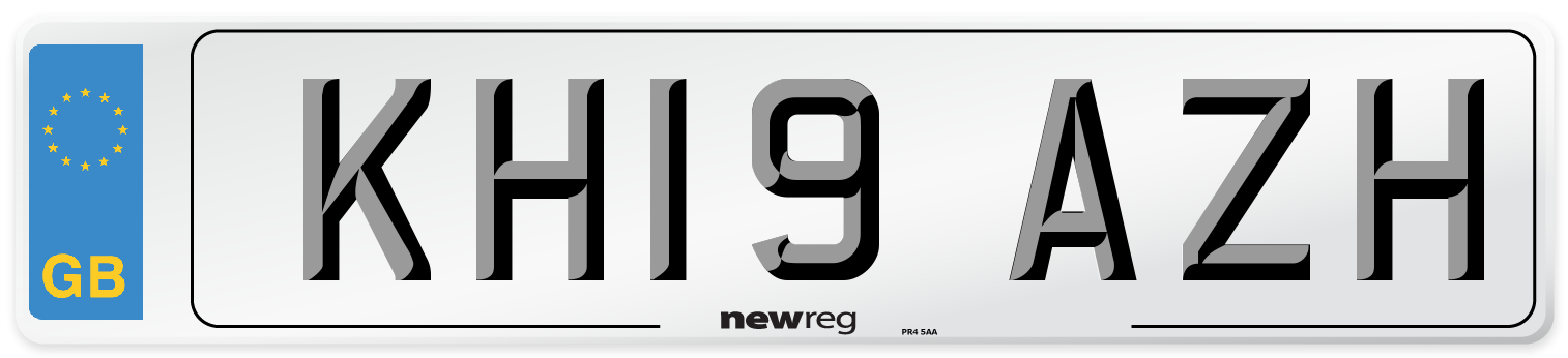 KH19 AZH Number Plate from New Reg
