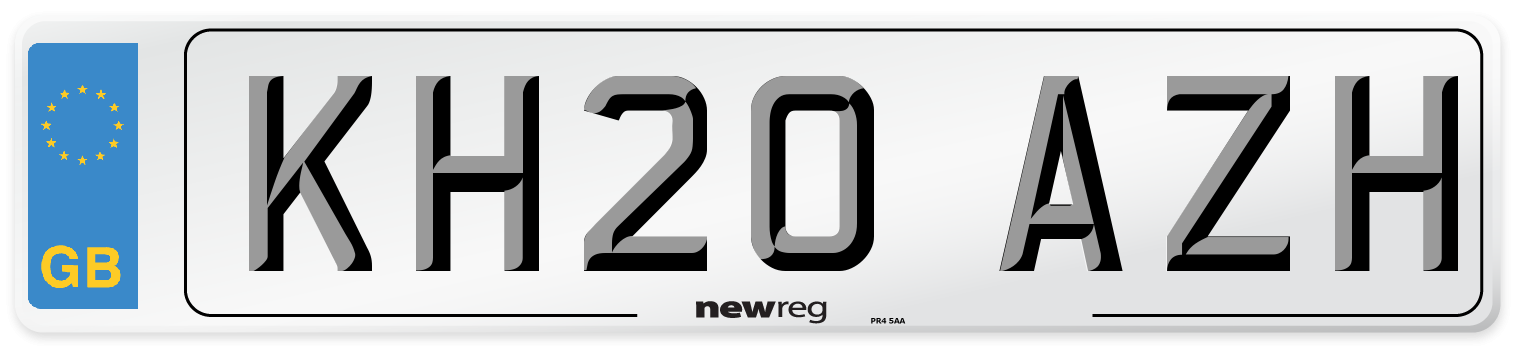 KH20 AZH Number Plate from New Reg