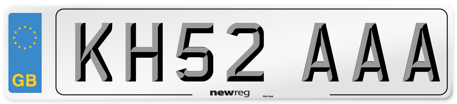 KH52 AAA Number Plate from New Reg