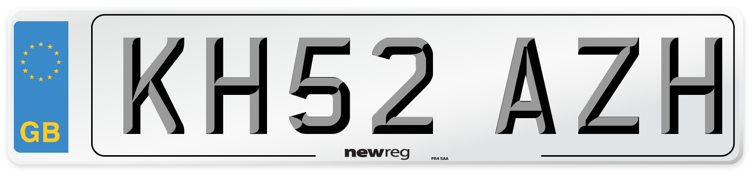 KH52 AZH Number Plate from New Reg