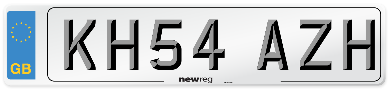 KH54 AZH Number Plate from New Reg