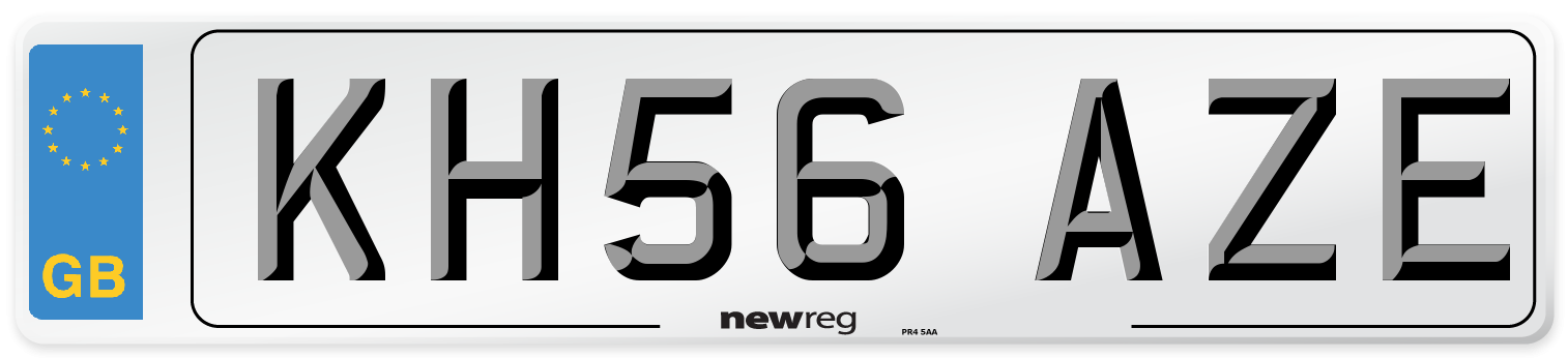 KH56 AZE Number Plate from New Reg