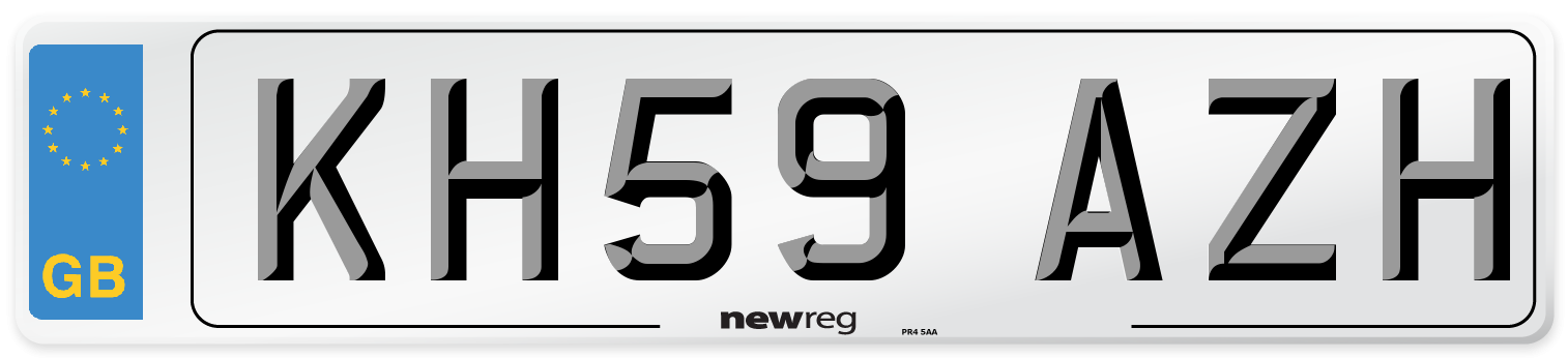 KH59 AZH Number Plate from New Reg