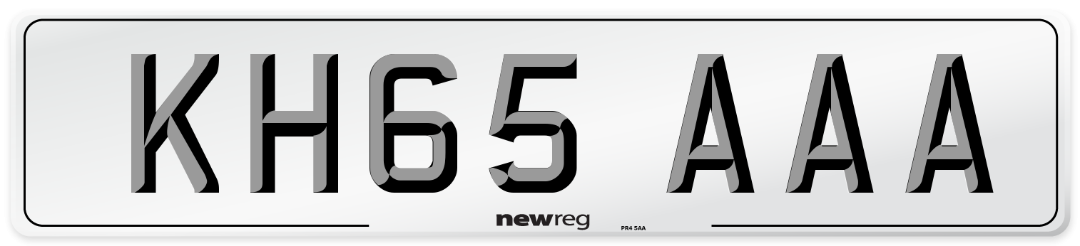 KH65 AAA Number Plate from New Reg