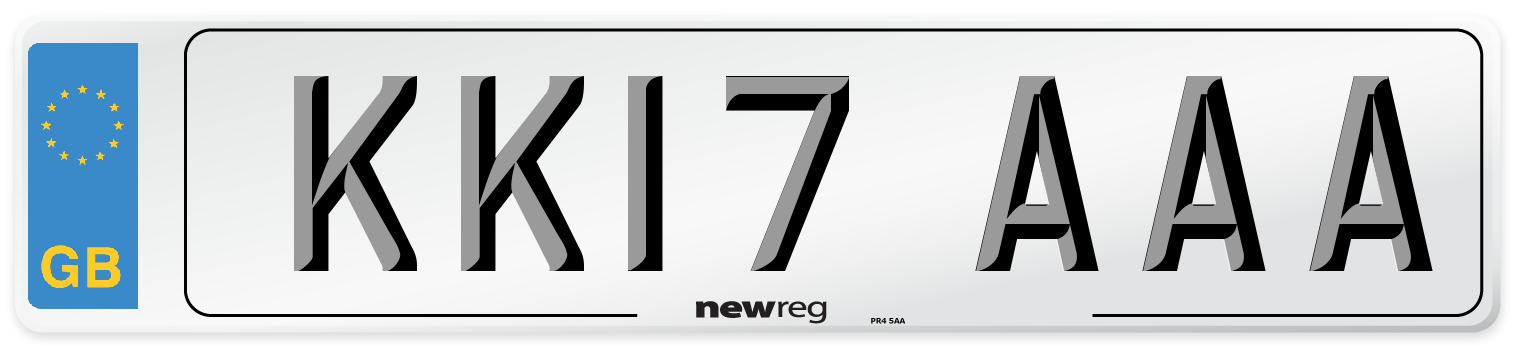 KK17 AAA Number Plate from New Reg