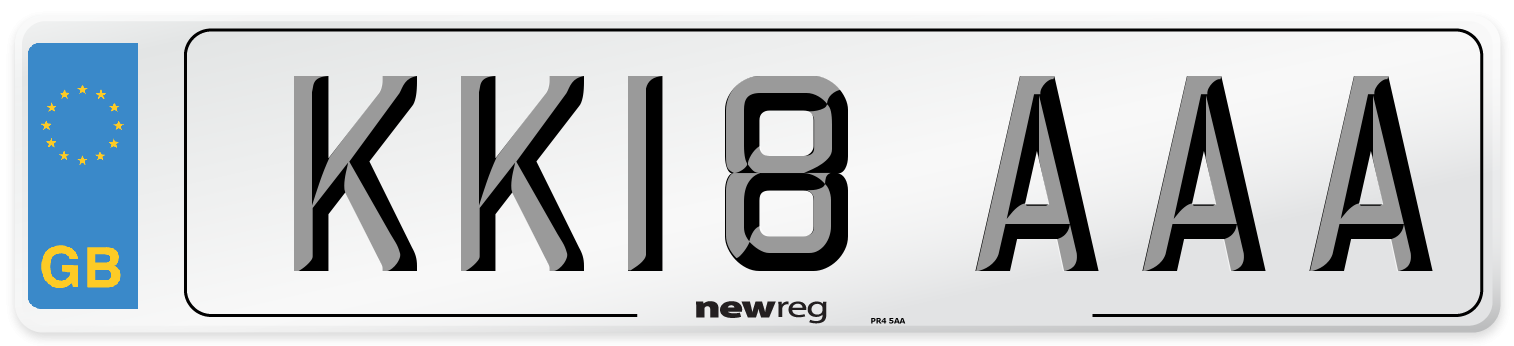 KK18 AAA Number Plate from New Reg
