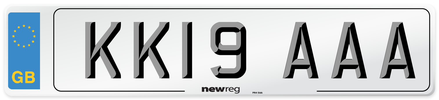 KK19 AAA Number Plate from New Reg