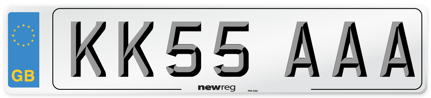 KK55 AAA Number Plate from New Reg