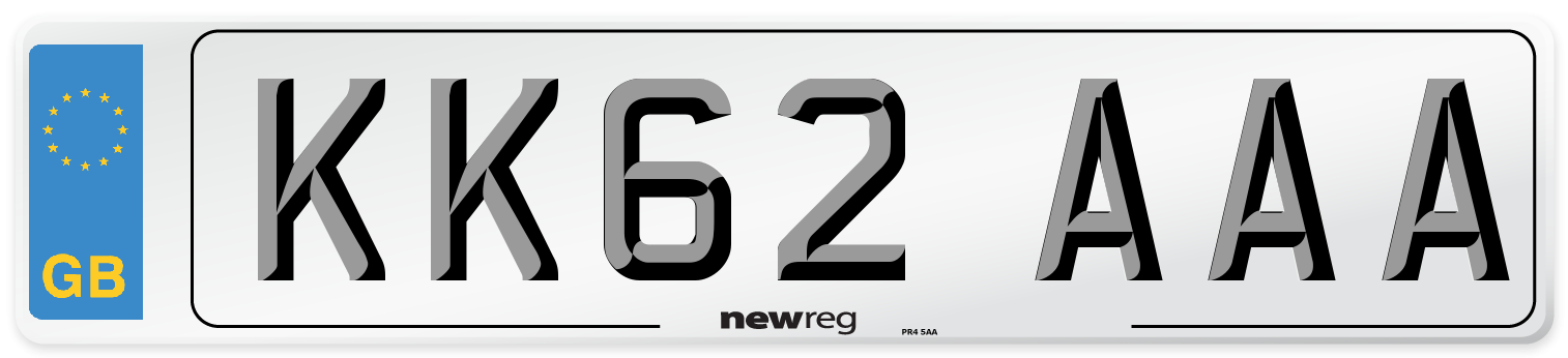KK62 AAA Number Plate from New Reg
