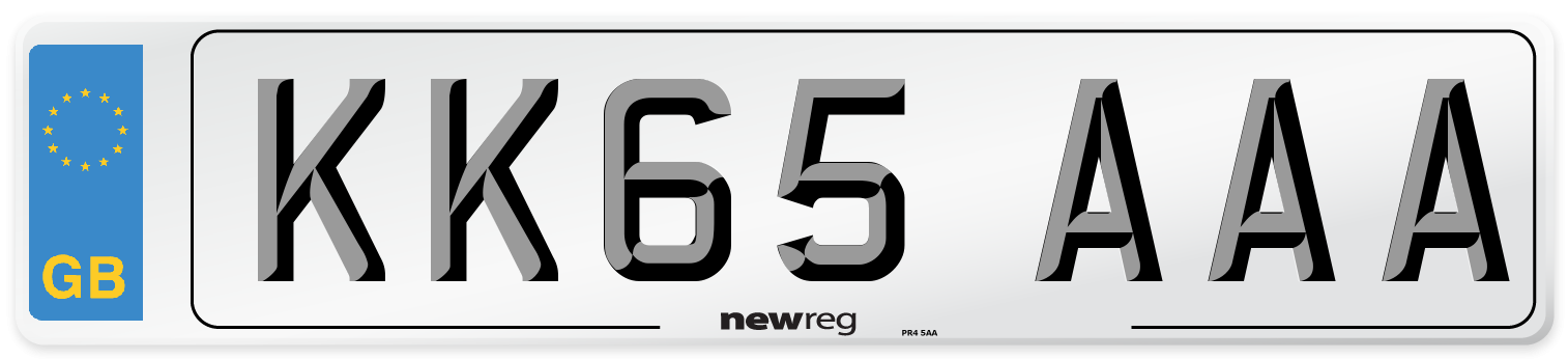 KK65 AAA Number Plate from New Reg