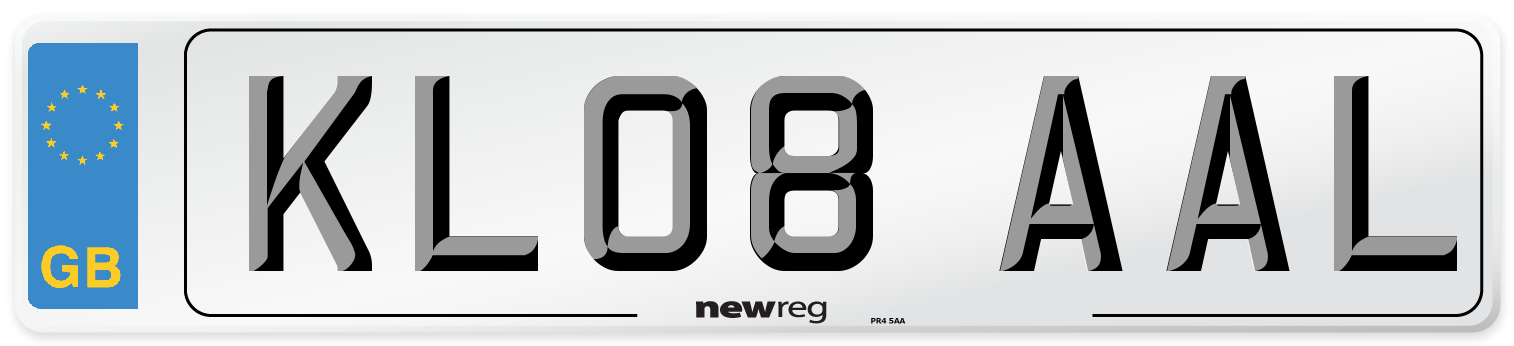 KL08 AAL Number Plate from New Reg