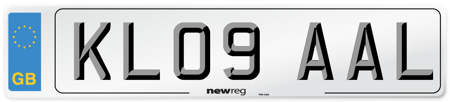 KL09 AAL Number Plate from New Reg