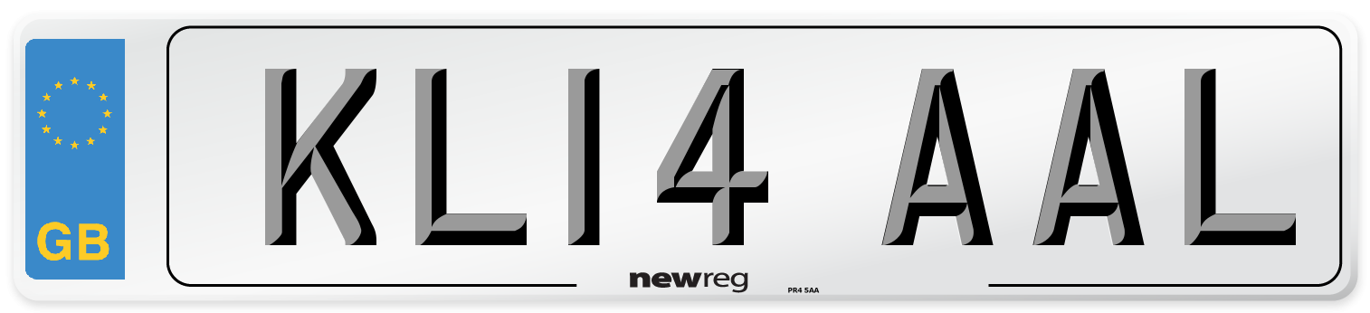 KL14 AAL Number Plate from New Reg