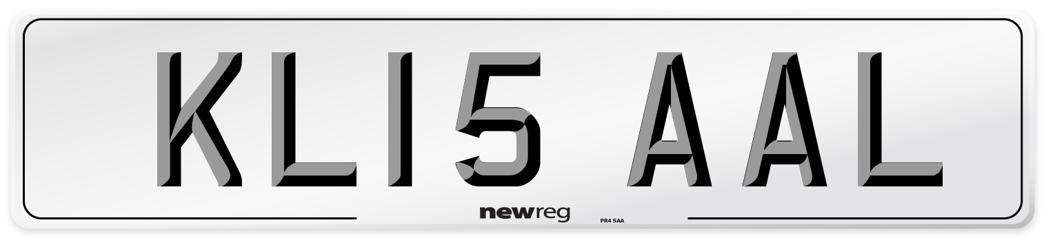 KL15 AAL Number Plate from New Reg