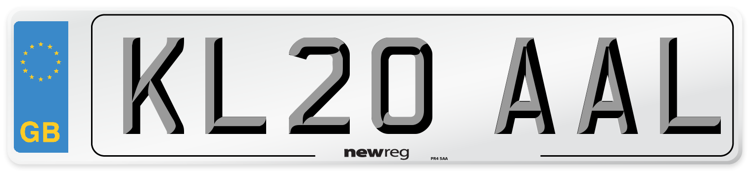 KL20 AAL Number Plate from New Reg