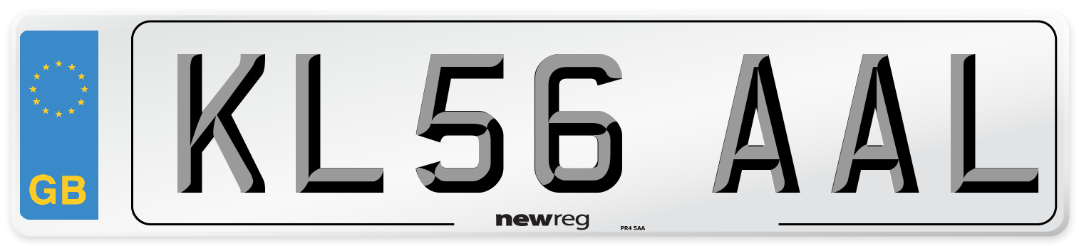 KL56 AAL Number Plate from New Reg