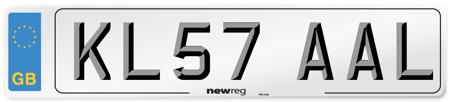 KL57 AAL Number Plate from New Reg