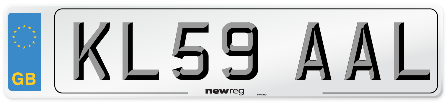 KL59 AAL Number Plate from New Reg