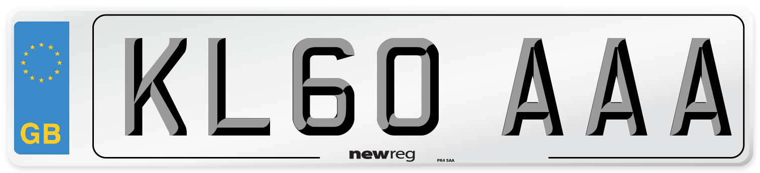 KL60 AAA Number Plate from New Reg