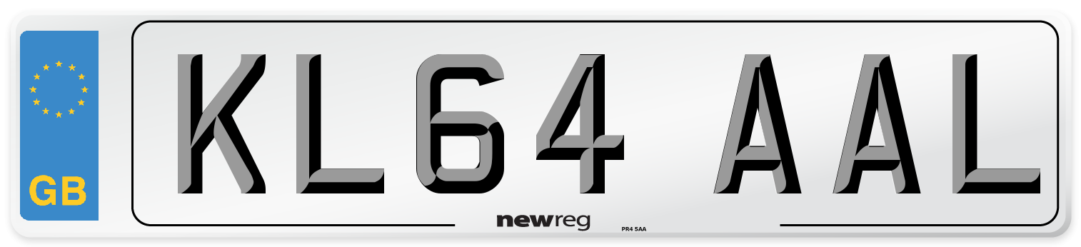 KL64 AAL Number Plate from New Reg