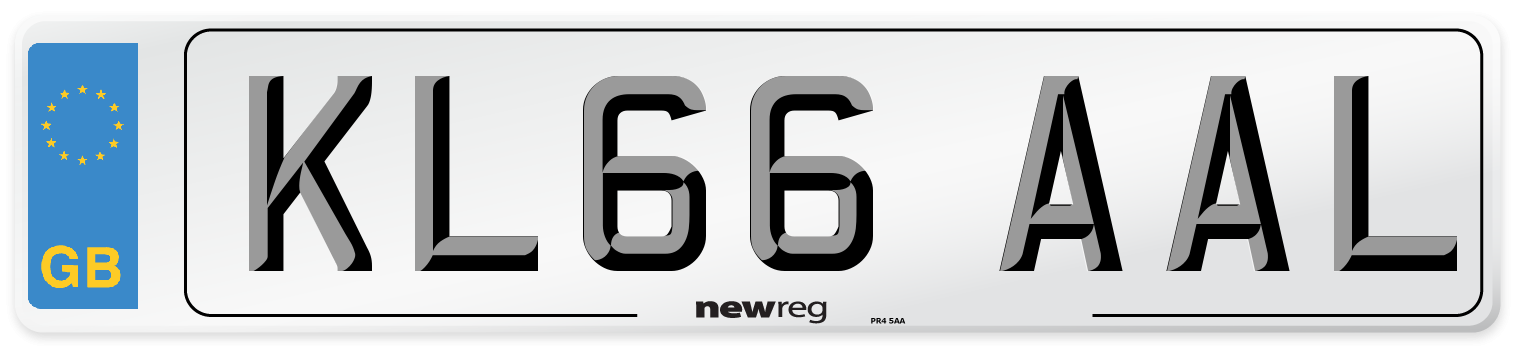 KL66 AAL Number Plate from New Reg
