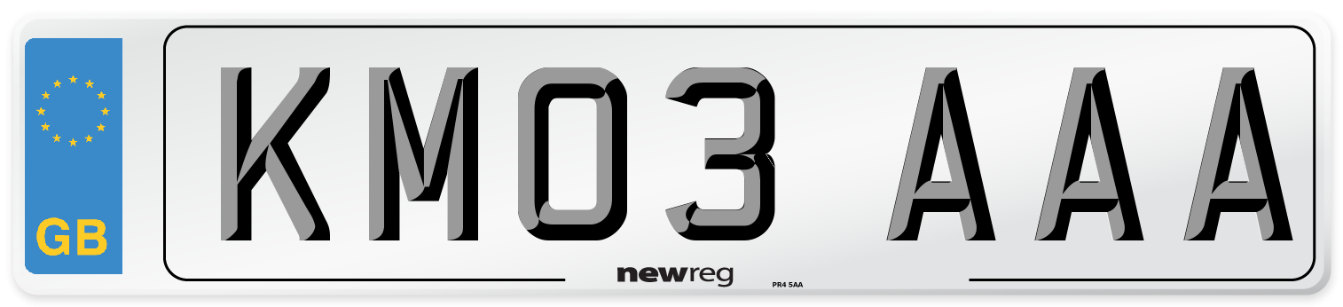 KM03 AAA Number Plate from New Reg
