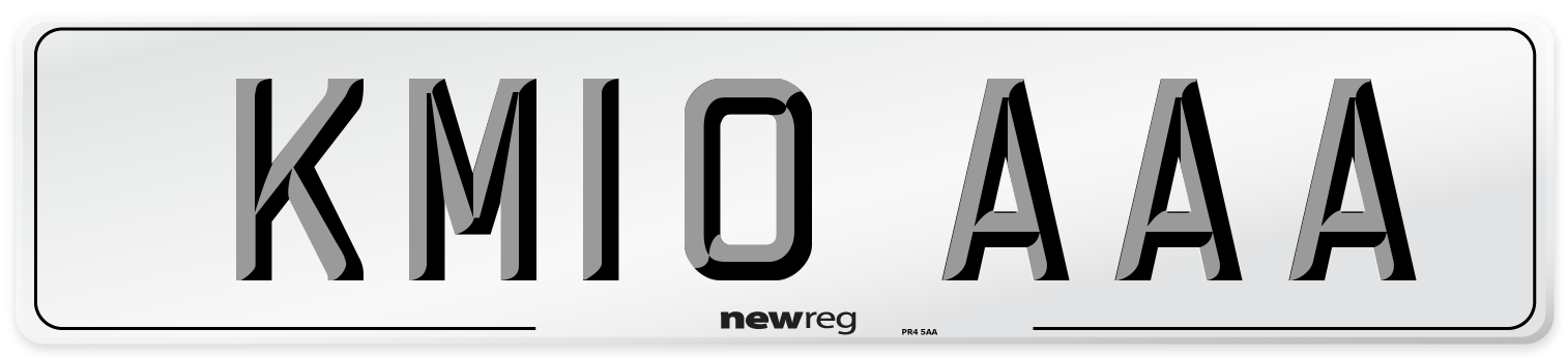 KM10 AAA Number Plate from New Reg