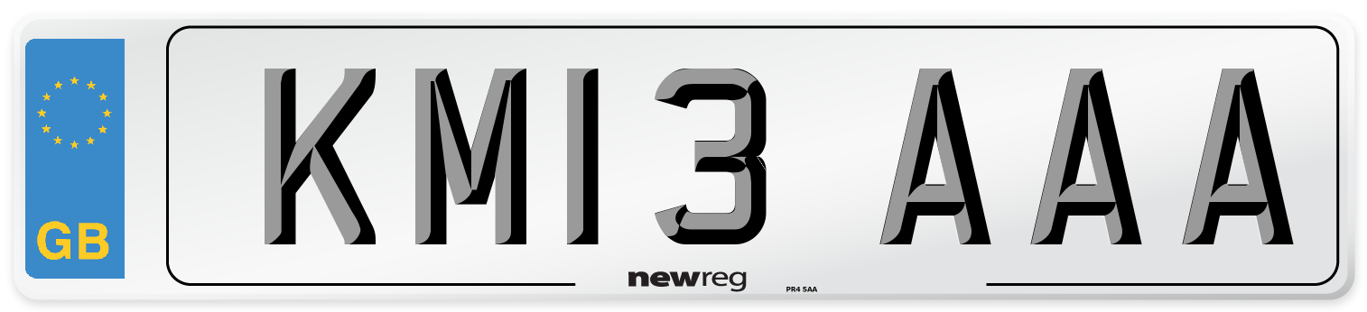 KM13 AAA Number Plate from New Reg