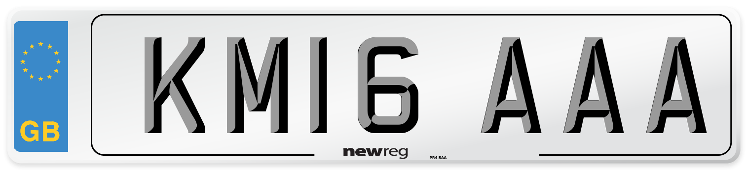 KM16 AAA Number Plate from New Reg