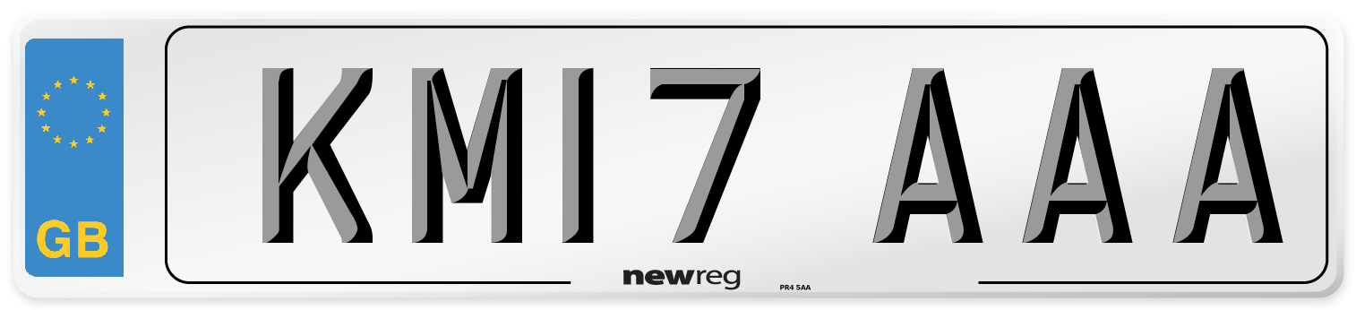 KM17 AAA Number Plate from New Reg