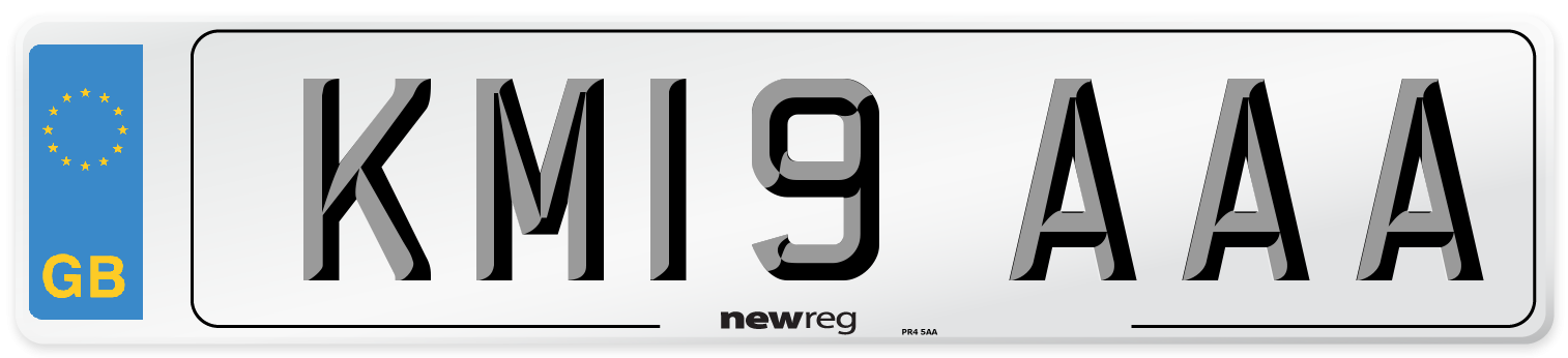 KM19 AAA Number Plate from New Reg