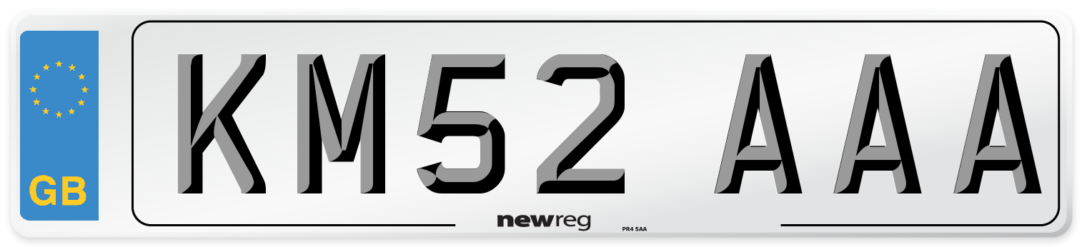 KM52 AAA Number Plate from New Reg