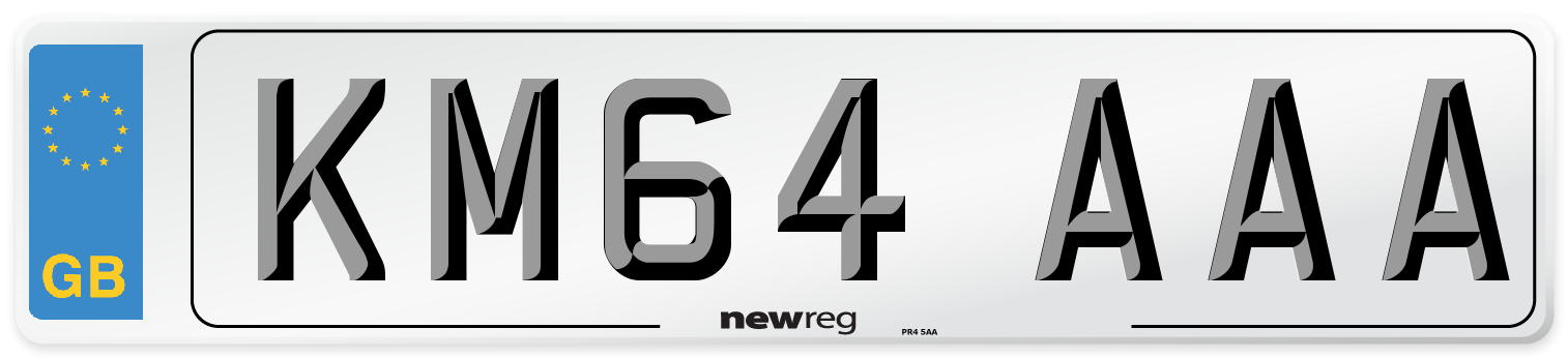 KM64 AAA Number Plate from New Reg