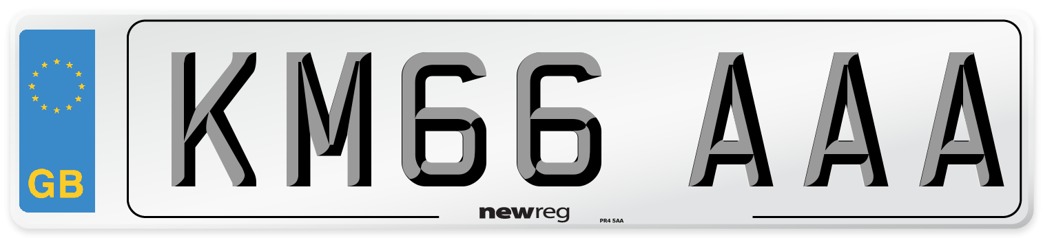 KM66 AAA Number Plate from New Reg