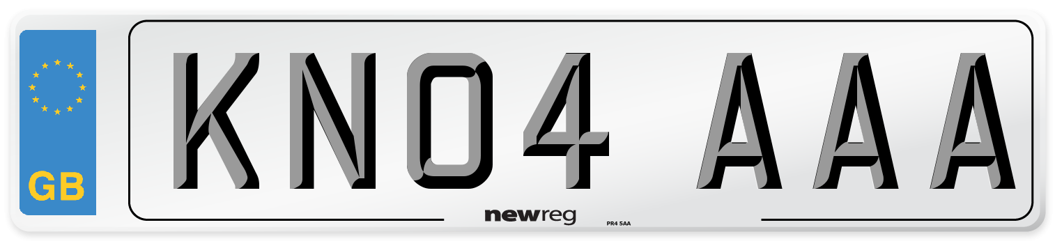 KN04 AAA Number Plate from New Reg
