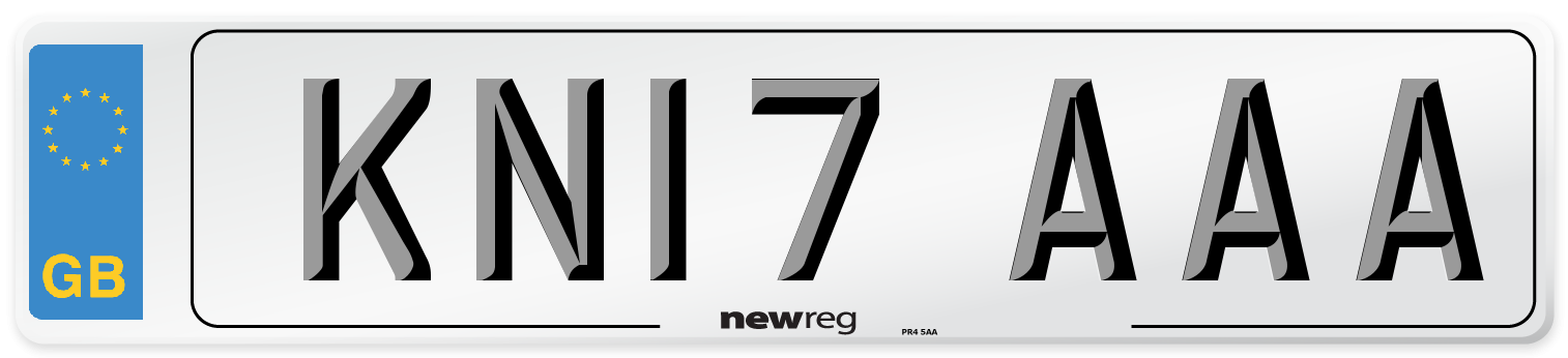 KN17 AAA Number Plate from New Reg