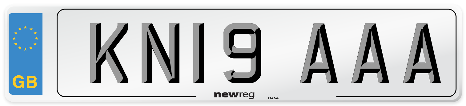 KN19 AAA Number Plate from New Reg