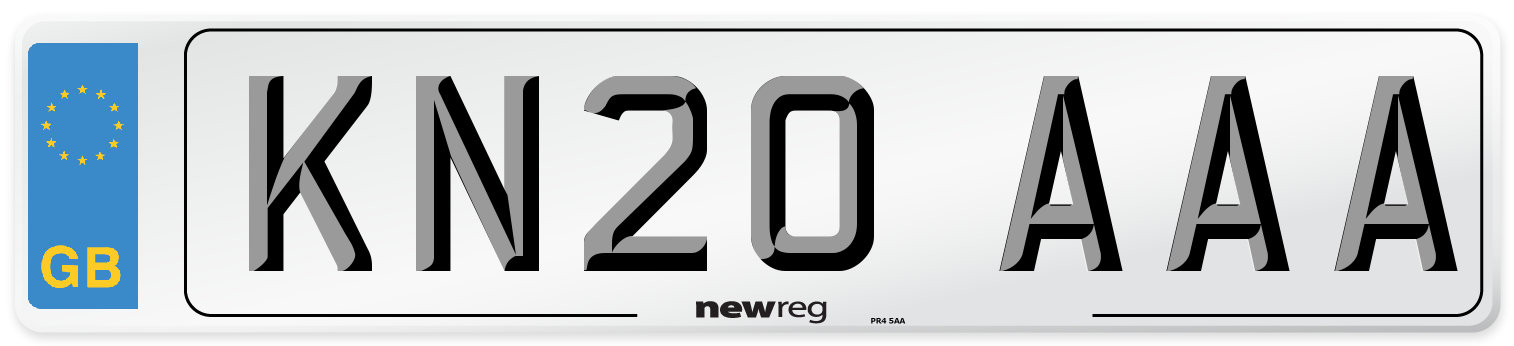 KN20 AAA Number Plate from New Reg