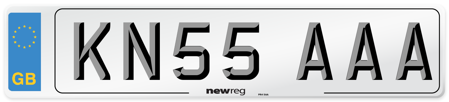 KN55 AAA Number Plate from New Reg
