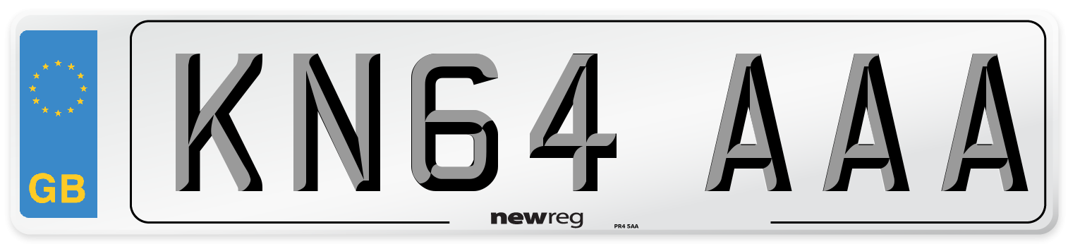 KN64 AAA Number Plate from New Reg