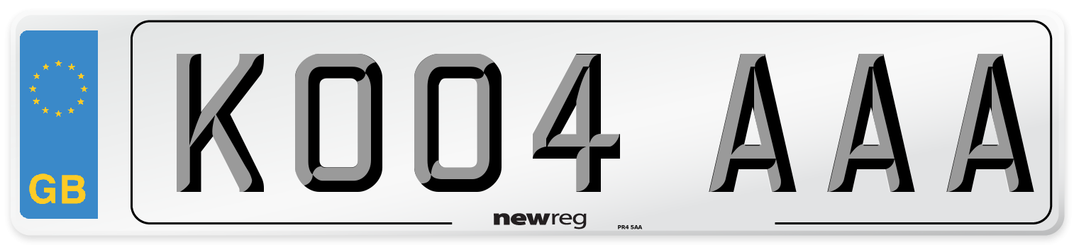 KO04 AAA Number Plate from New Reg