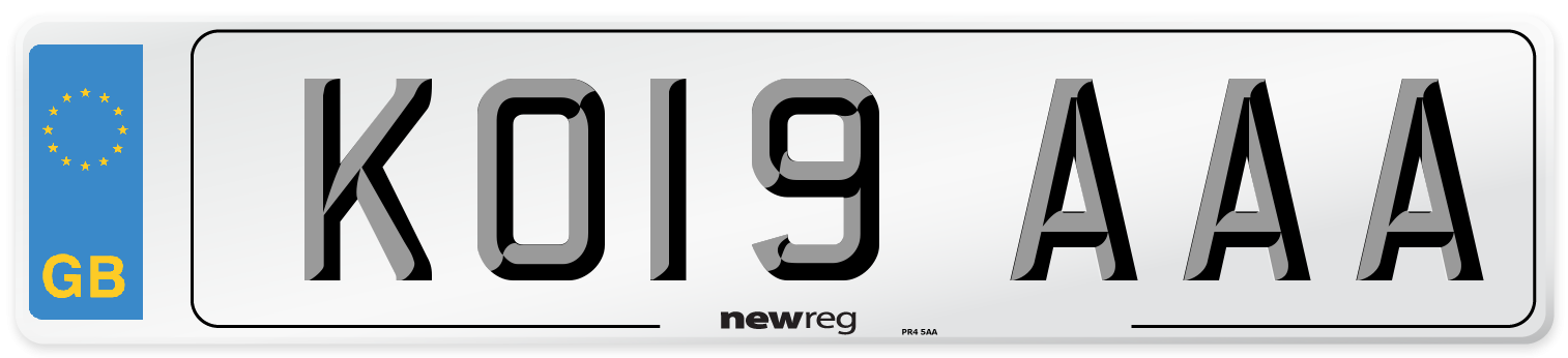 KO19 AAA Number Plate from New Reg
