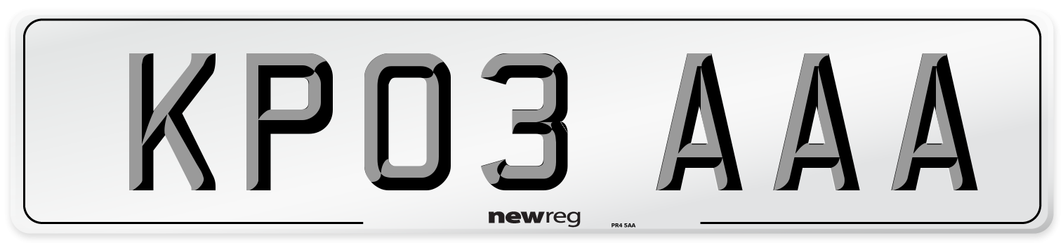 KP03 AAA Number Plate from New Reg