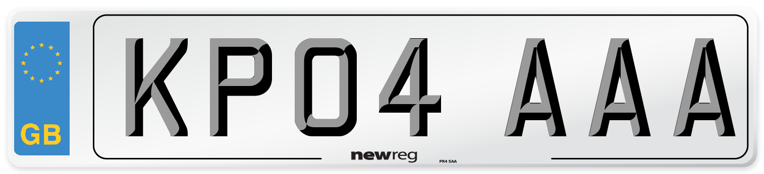KP04 AAA Number Plate from New Reg