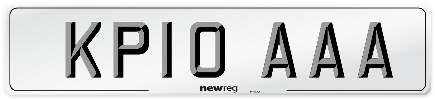 KP10 AAA Number Plate from New Reg