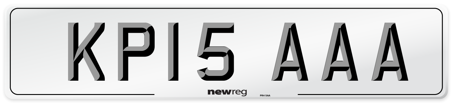 KP15 AAA Number Plate from New Reg
