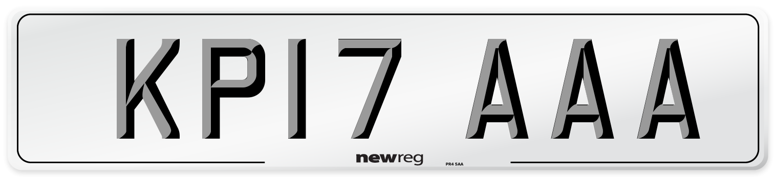 KP17 AAA Number Plate from New Reg