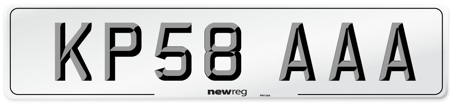 KP58 AAA Number Plate from New Reg