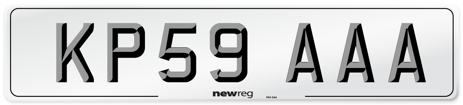 KP59 AAA Number Plate from New Reg
