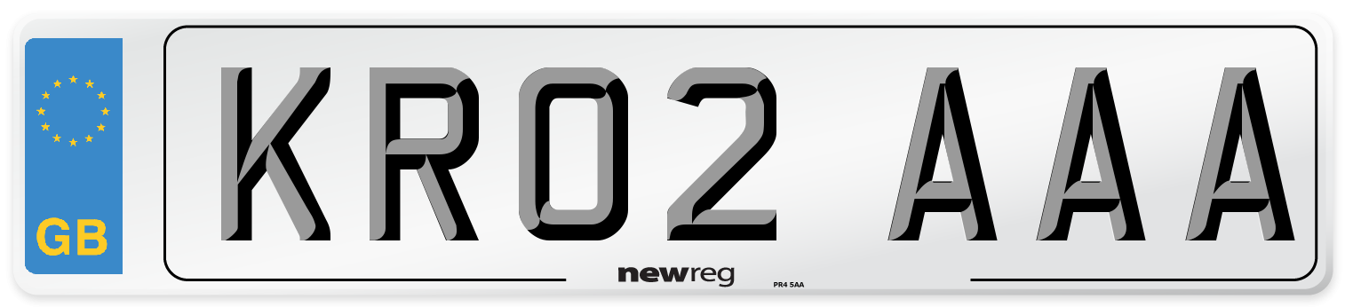 KR02 AAA Number Plate from New Reg